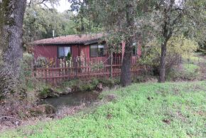 Photo showing the secluded location of the Creekside Cottage.